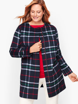 Double Face Plaid Topper