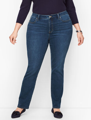 Plus Size Exclusive Straight Leg Jeans - Park Wash