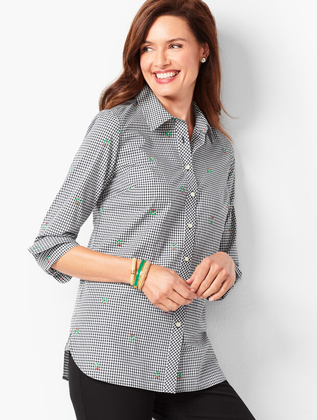 Classic Cotton Shirt - Holiday Gingham