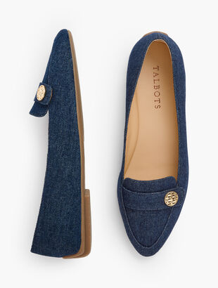 Francesca Driving Moccasins - Denim
