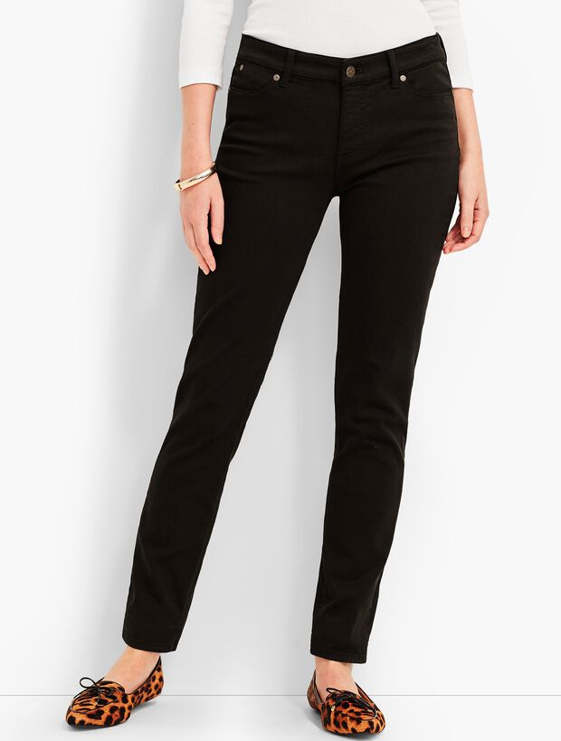 Denim Slim Ankle-Black