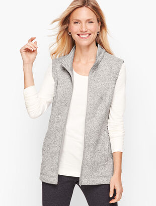 Textured Terry Fleece Vest