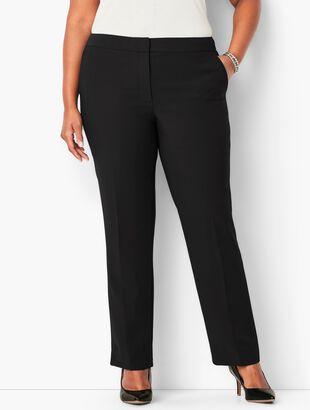 Seasonless Crepe Straight-Leg Pants