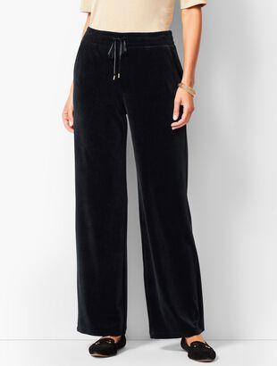 Luxe Velour Wide-Leg Pants