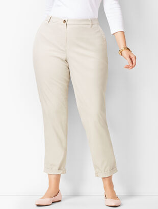 Plus Size Girlfriend Chinos - Curvy Fit - Solid