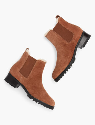 Chelsea Pull-On Booties - Suede