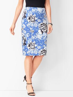 Rose Pencil Skirt