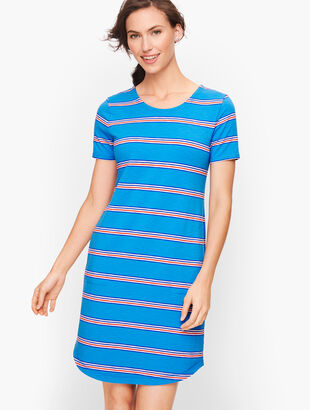 Ladder Back Stripe T-Shirt Dress