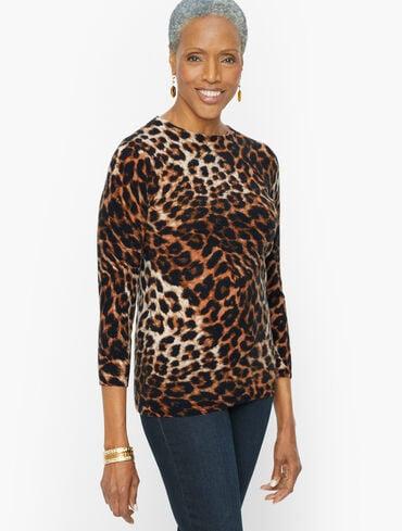 Audrey Cashmere Sweater - Classic Animal
