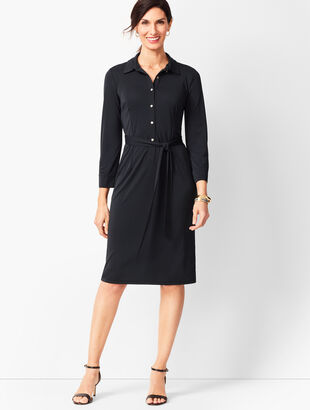 Jersey Shirt Dress - Solid