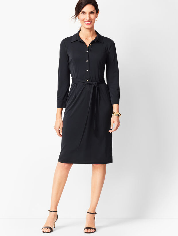 Jersey Shirt Dress - Solid