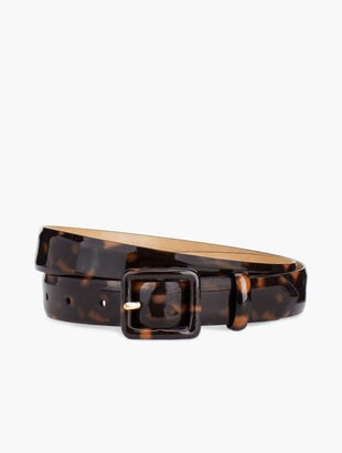 "Plus Size 1"" Patent Tort Covered Buckle Belt"