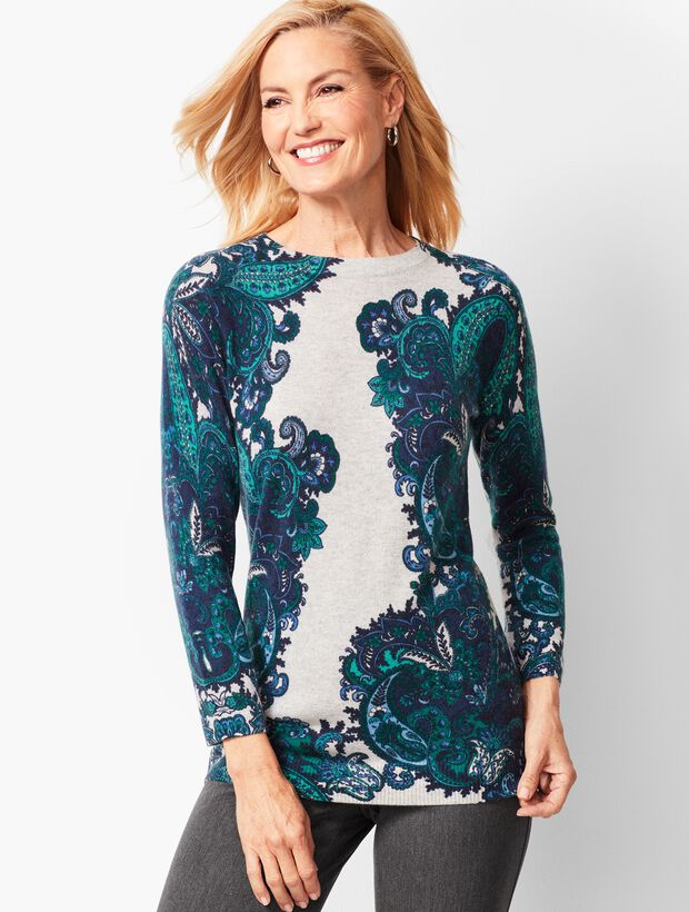 Audrey Cashmere Sweater - Paisley