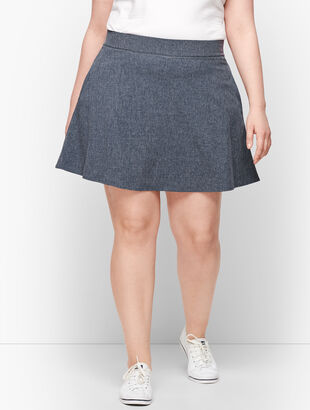 Lightweight Stretch Woven Skort - Mélange