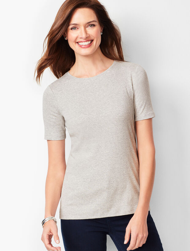 Cotton Crewneck Tee - Heather