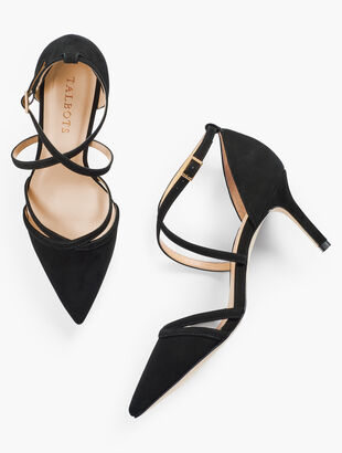 Erica Strappy Pumps - Suede