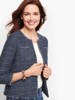 Airy Tweed Woven Jacket