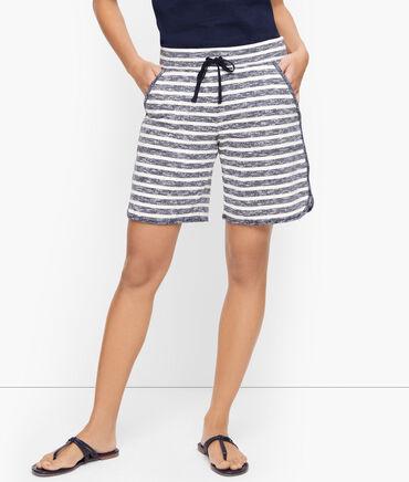 Stripe Drawstring Shorts - 7 inch