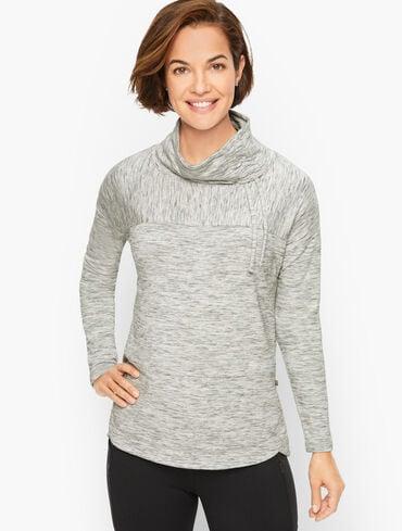 Asymmetrical Mockneck Pullover