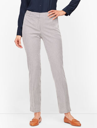 Talbots Hampshire Ankle Pants - Teatime Stripe