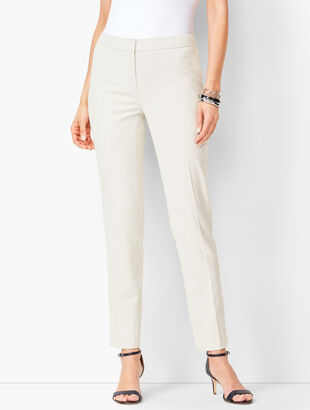 Corded Stripe Slim Ankle Pants