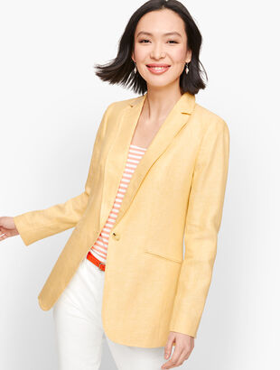 Classic Linen Blazer - Twill