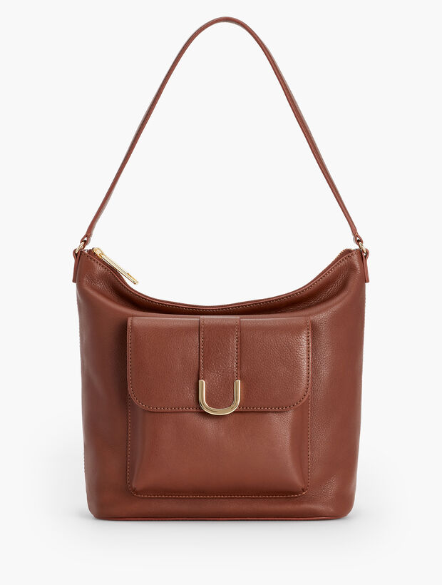 Soft Pebble Leather Hobo Bag
