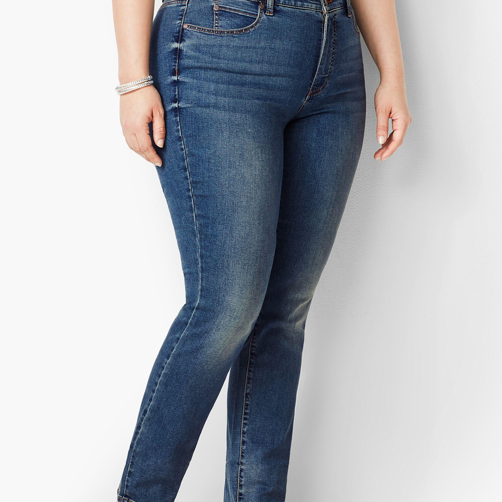 e341cd8e6e7 Plus Size Exclusive High-Rise Straight-Leg Jeans - Baxter Wash