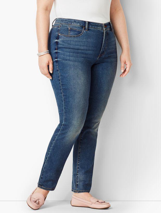 Plus Size High-Rise Straight-Leg Jeans - Baxter Wash