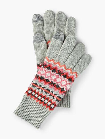 Fair Isle Knit Gloves