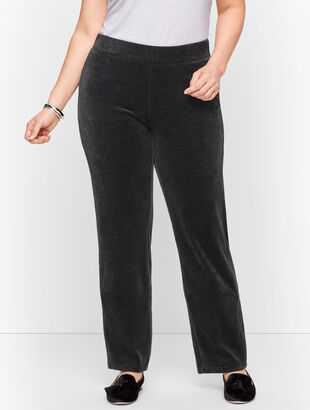 Luxe Velour Straight Leg Pants
