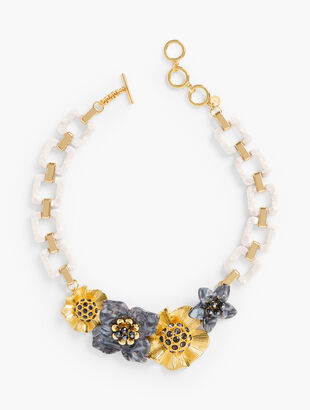 Flowers Statement Necklace