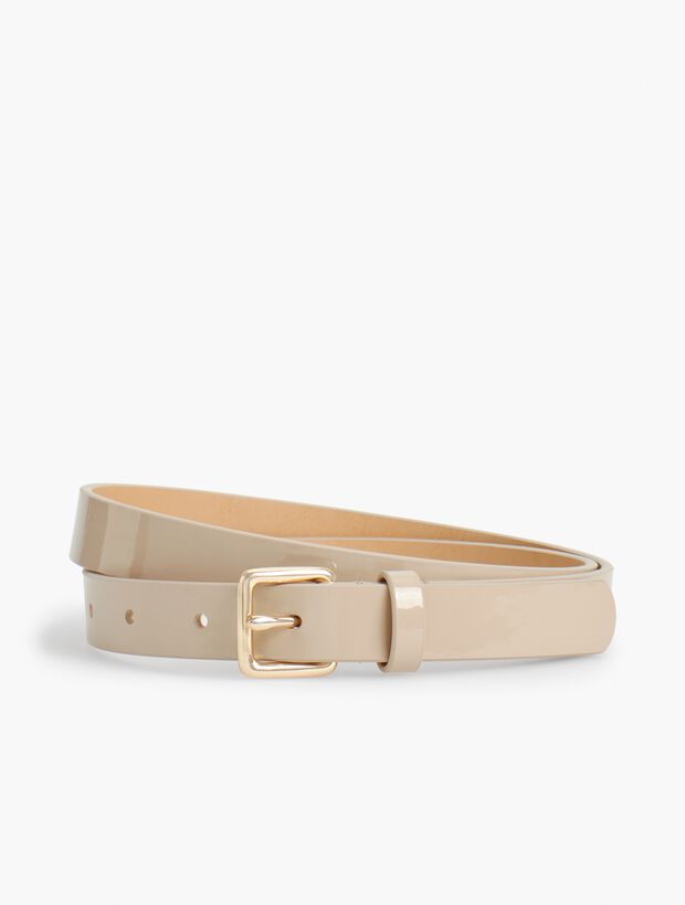 Plus Size Patent Leather Square-Buckle Belt