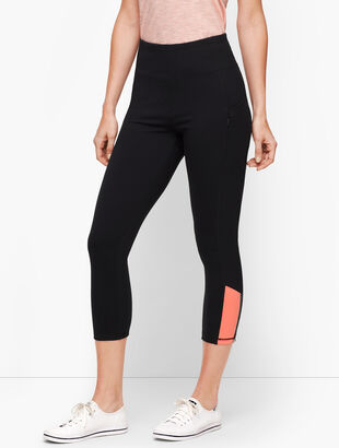 Colorblock Sport Cropped Leggings