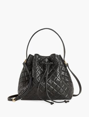 Nappa Leather Drawstring Bucket Bag