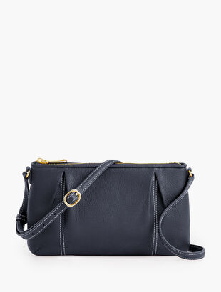 Soft Pebbled Leather Crossbody Bag