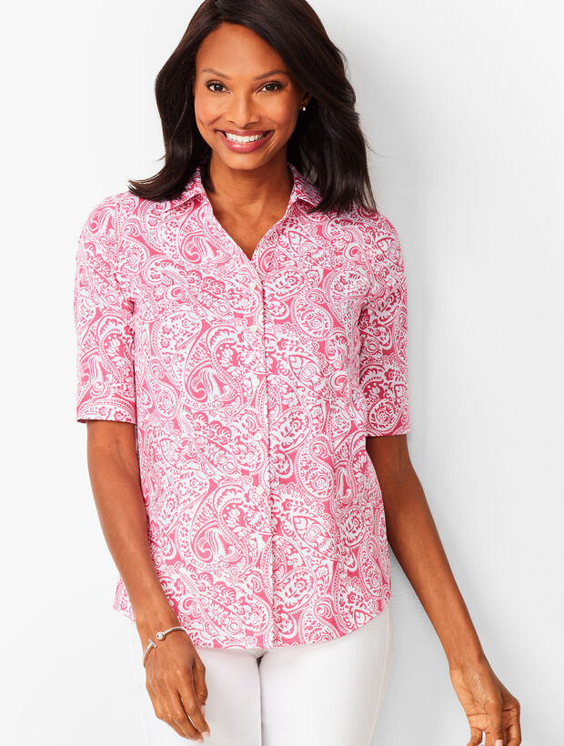 5a3647f36 Perfect Shirt - Elbow-Length Sleeves - Paisley | Talbots
