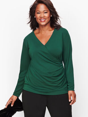 Knit Jersey Wrap Top