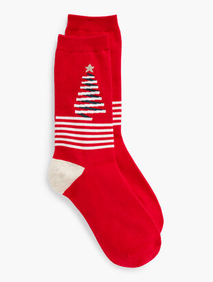 Ribbon Tree Trouser Socks