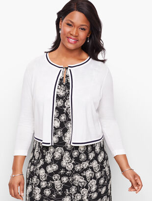 Plus Size Tipped Dress Shrug