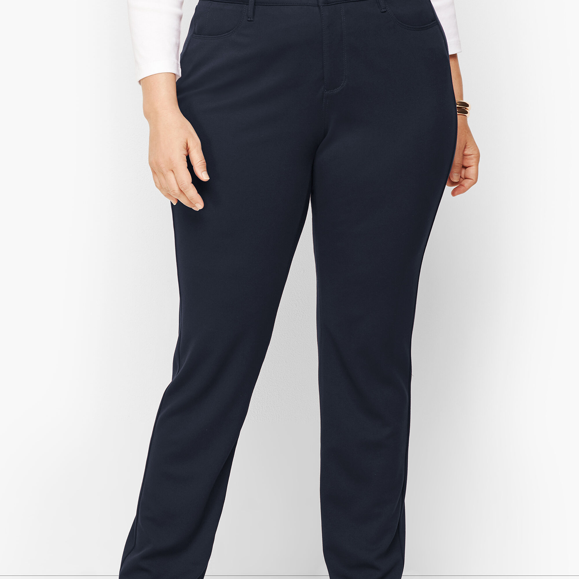 6ba52ce2b89 Images. Plus Size High-Rise Straight-Leg Pants - Ponte