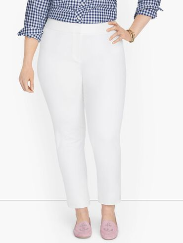 Plus Exclusive Talbots Chatham Fly Front Ankle Pants - Solid