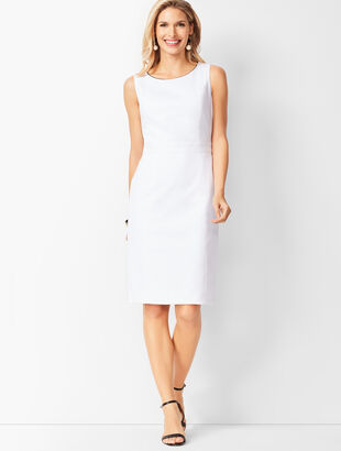 Dobby Weave Sheath Dress