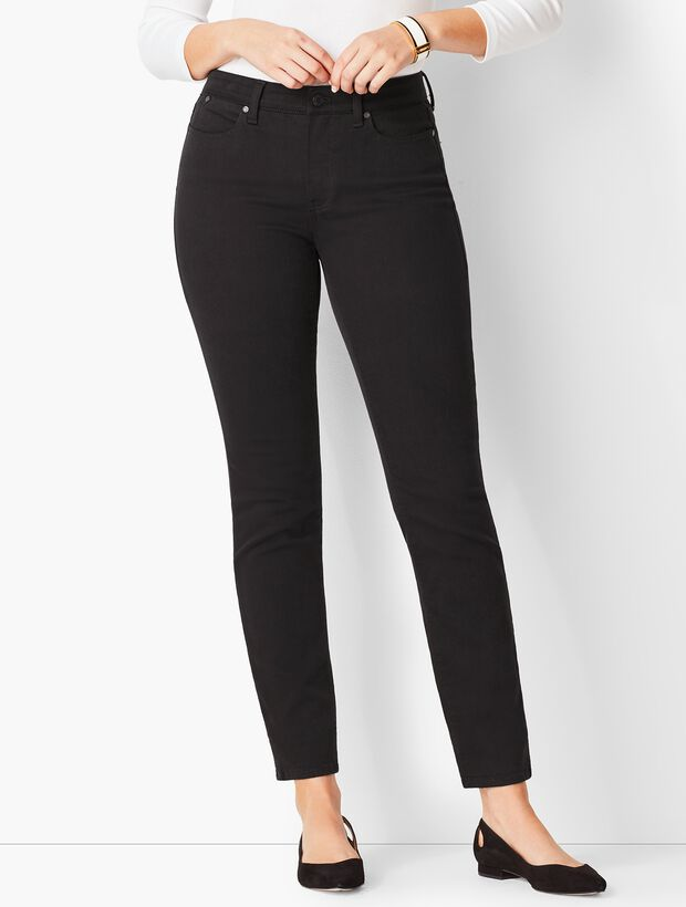 Slim Ankle Jeans - Never Fade Black/Curvy Fit