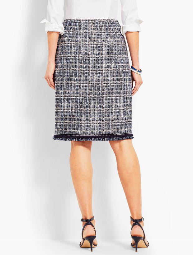 Tweed Wrap Skirt