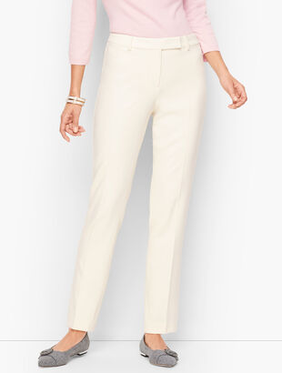 Wool Blend Bi-Stretch Pants - Lined Ivory