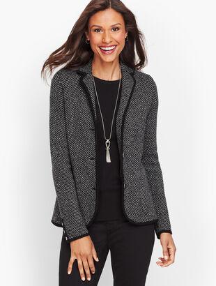 Merino Sweater Blazer - Herringbone