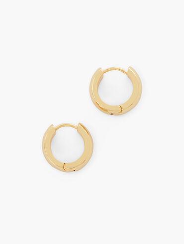 Modern Metal Huggie Hoop Earrings