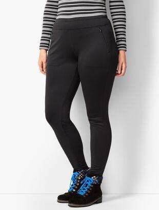 Fleece-Lined Pull-On Legging