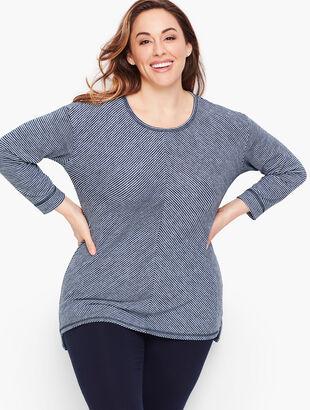 Bias Stripe Pullover